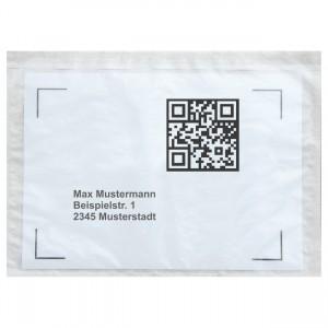 Lieferscheintaschen / Begleitpapiertaschen aus Papier / farblos / DIN C5