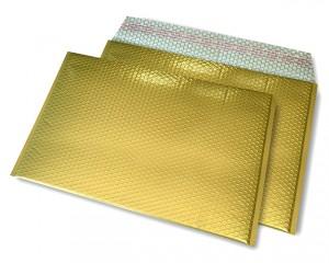 gold matt C4 Metallic Bubblebag Luftpolsterumschläge
