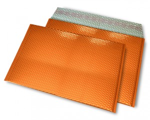 orange opak C4 Metallic Bubblebag Luftpolsterumschläge