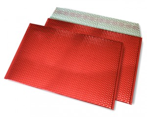 rot opak C4 Metallic Bubblebag Luftpolsterumschläge
