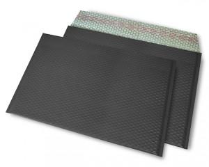 schwarz matt C4 Metallic Bubblebag Luftpolsterumschläge