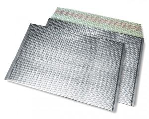 silber opak C4 Metallic Bubblebag Luftpolsterumschläge