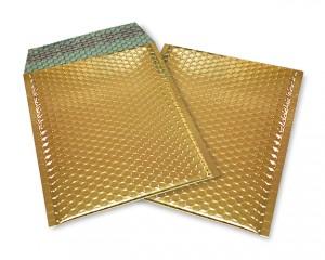 gold opak C5 Metallic Bubblebag Luftpolsterumschläge