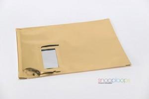 gold opak C4 Snooploop Folienumschlag mit Fenster