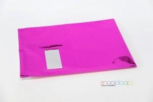pink opak C4 Snooploop Folienumschlag mit Fenster