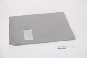 silber graphite matt C4 Snooploop Folienumschlag mit Fenster