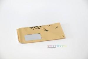 gold opak Din lang Snooploop Folienumschlag mit Fenster