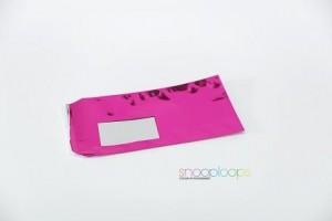 pink opak Din lang Snooploop Folienumschlag mit Fenster