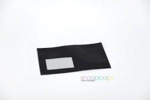schwarz opak Din lang Snooploop Folienumschlag mit Fenster