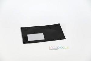 schwarz matt Din lang Snooploop Folienumschlag mit Fenster