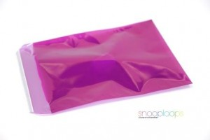 pink transluzent C4 Snooploop Folienumschlag