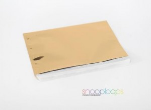 gold opak C5 Snooploop Folienumschlag
