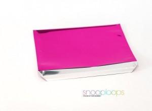 pink opak C6 Snooploop Folienumschlag