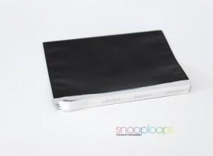 schwarz opak C5 Snooploop Folienumschlag