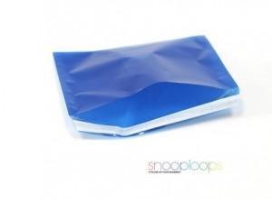 blau transluzent C6 Snooploop Folienumschlag