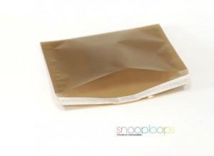 gold transluzent C5 Snooploop Folienumschlag