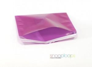 pink transluzent C5 Snooploop Folienumschlag