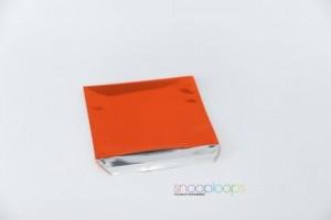 orange opak 220 Snooploop Folienumschlag