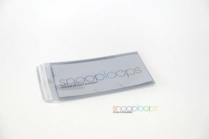 silber transluzent Din lang Snooploop Folienumschlag