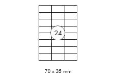 transparente Etiketten 8x3
