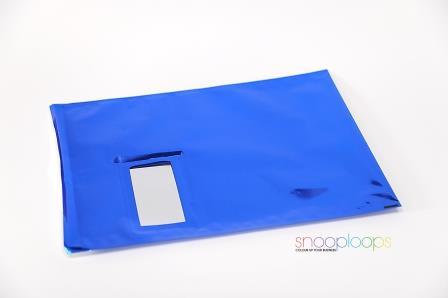 blau opak C4 Snooploop Folienumschlag mit Fenster