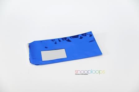 blau opak Din lang Snooploop Folienumschlag mit Fenster