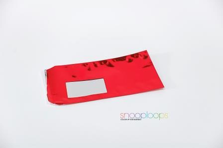 rot opak Din lang Snooploop Folienumschlag mit Fenster