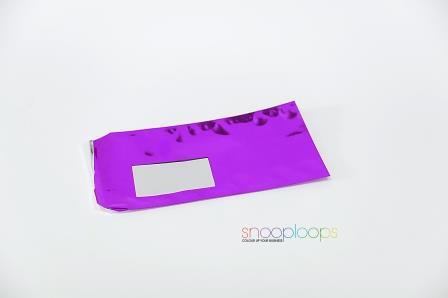violett opak Din lang Snooploop Folienumschlag mit Fenster