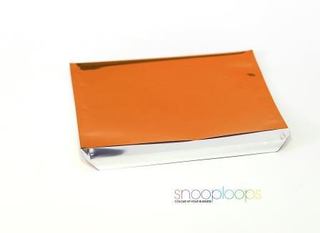 orange opak C6 Snooploop Folienumschlag