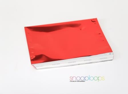rot opak C6 Snooploop Folienumschlag
