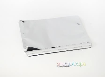 silber opak C5 Snooploop Folienumschlag