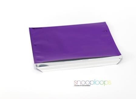violett opak C5 Snooploop Folienumschlag